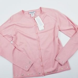 Pendleton Light Pink Cardigan Embroidered Small